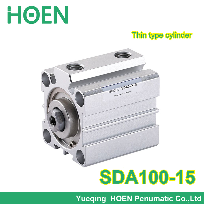 SDA100-15 Airtac type thin Pneumatic Air cylinder SDA100*15 100mm bore 16mm stroke SDA Series SDA100*15 Compact Cylinder acq100 75 b type airtac type aluminum alloy thin cylinder all new acq100 75 b series 100mm bore 75mm stroke