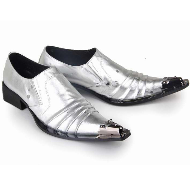 Newest Spring Autumn Metal Toe Slip On Mens Shoes Casual