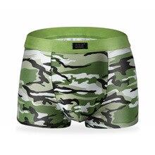 youlehe Mens Underwear Plus Size Men's Boxer Shorts Fashion Breathable Modal Boxer Tide men Soldier Camouflage underwear