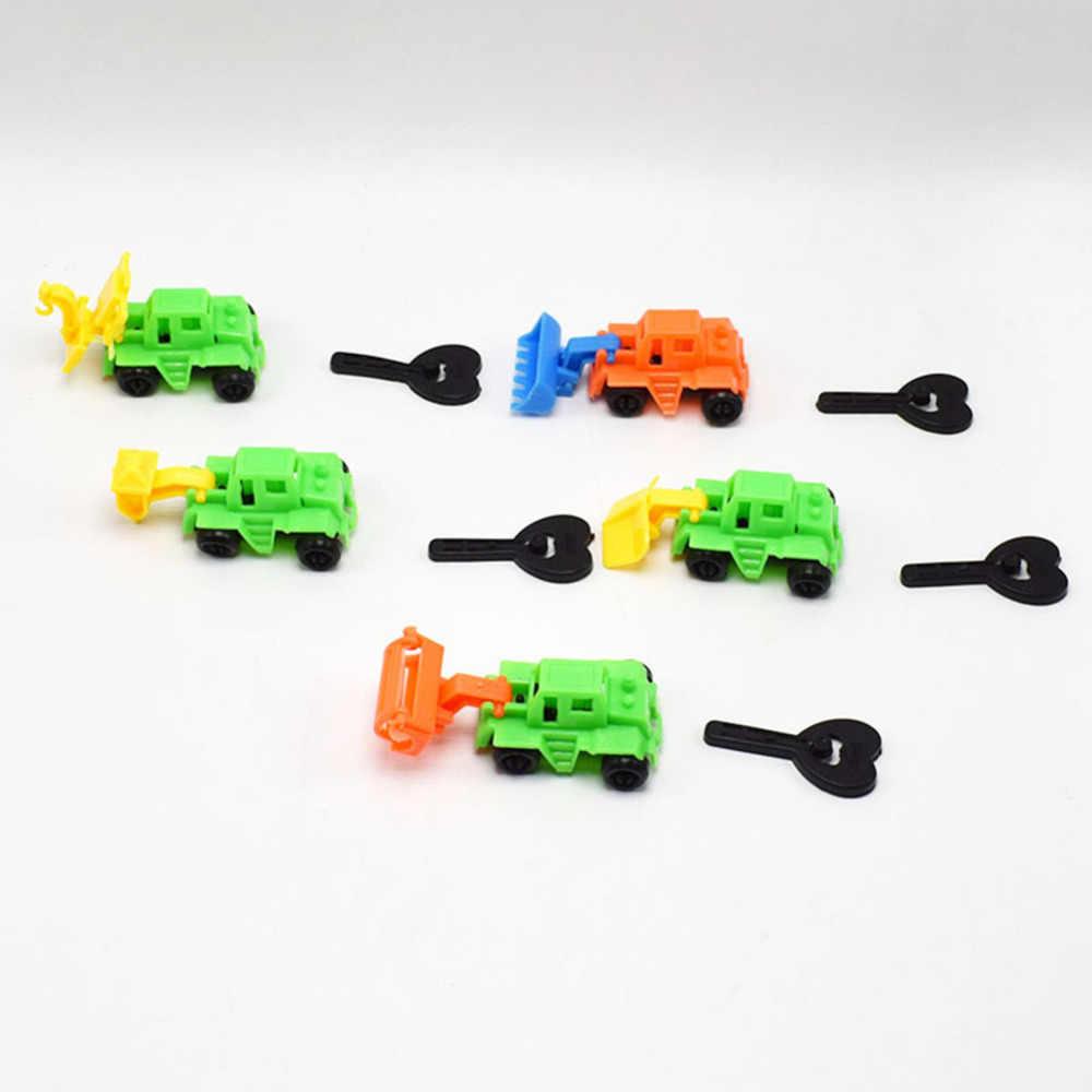 1 PC Anak-anak Mini Traktor Mobil Mainan Dump Truk Model Mainan Anak Kendaraan Teknik Mobil Mainan Hadiah Natal Mengatur Acak warna