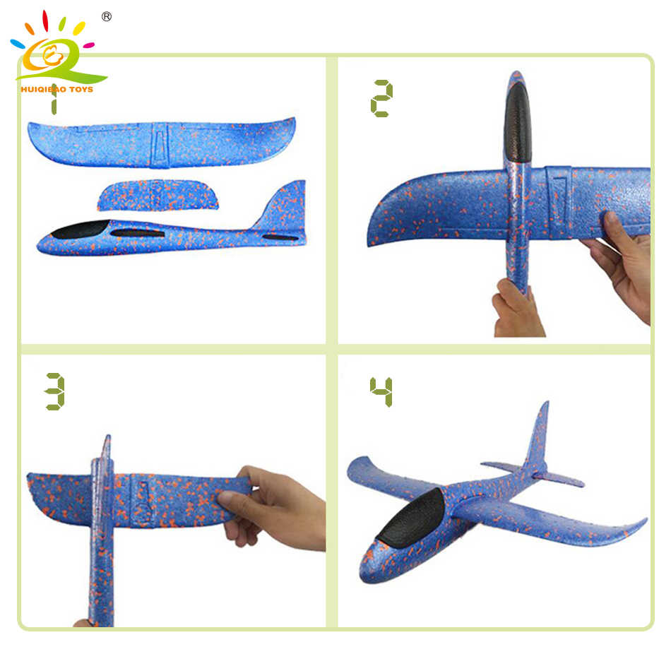 3xHand Launch Throw Airplane Foam Glider Slingshot Plane Model Outdoor Toys GiPF