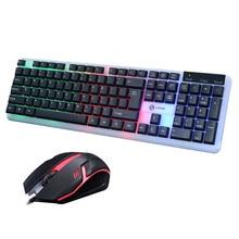 Игровой набор клавиатура и мышь T6 Радужная Подсветка Usb Эргономичный для ПК ноутбука геймера игры мышь s и клавиатуры комплект коврик для мыши# g4