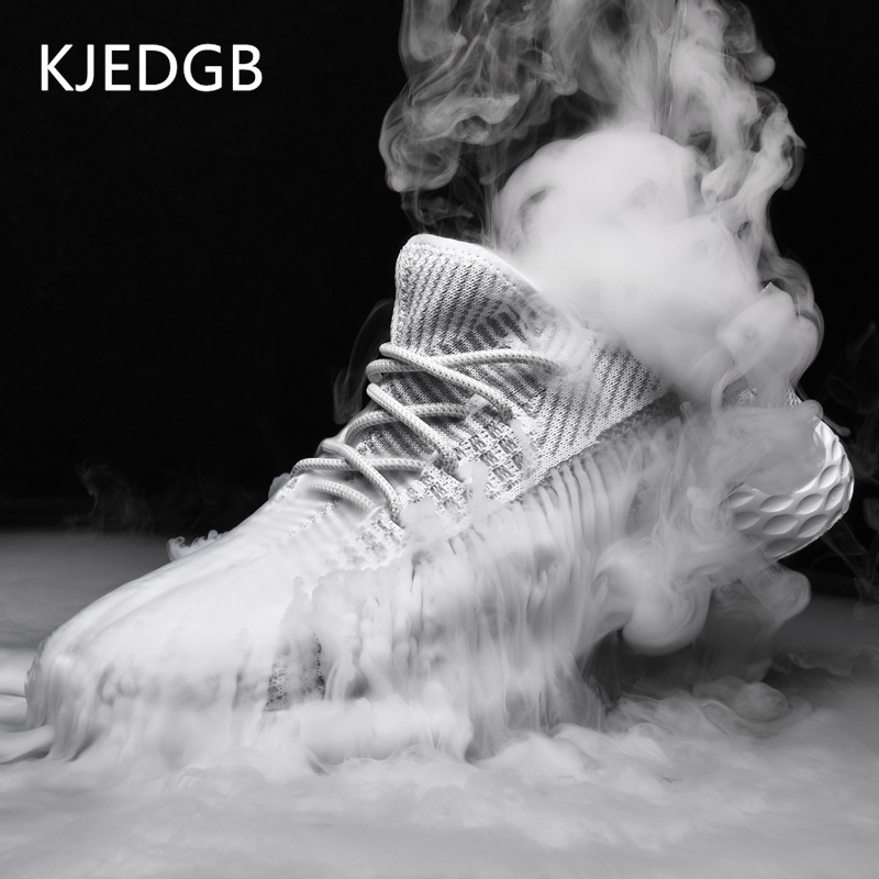 KJEDGB 2019 New Ultralight Breathable Shoes Man Summer Comfortable Men Sneakers Adult Male Tennis Trainers Shoes Big Size 39-48