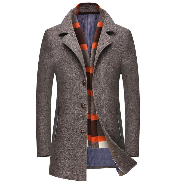 ZOEQO สินค้าใหม่คุณภาพสูงเสื้อขนสัตว์ผู้ชายผ้าขนสัตว์ Coat Slim Fit แจ็คเก็ตบุรุษ Mens Casual Outerwear แจ็คเก็ต M 4XL ขนาด-ใน แจ็กเก็ต จาก เสื้อผ้าผู้ชาย บน   3