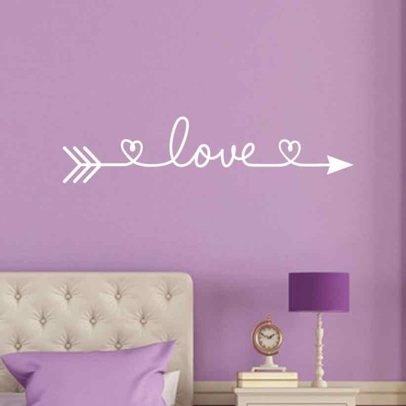 愛矢印文字パターン壁ステッカーリムーバブルホームインテリアアートつる植物リビングルームの壁壁画壁の装飾 Wandaufkleber 18July10