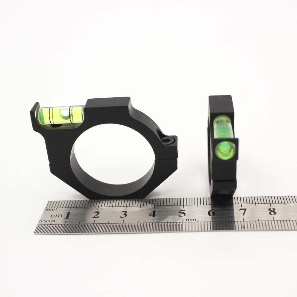 金属スピリットバブルレベル用34ミリメートルレール視力ライフル銃スコープレーザーリングマウントホルダータクティカル光学レーザーサイト