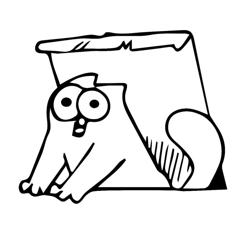 58cm x 58cm 2 x (one For Each Side) Simons Cat Car Sticker For Cars Side, Truck Window Door Girls Boy Bedroom Wall Vinyl Decal sunshade sun block for car side window black 65 x 38cm