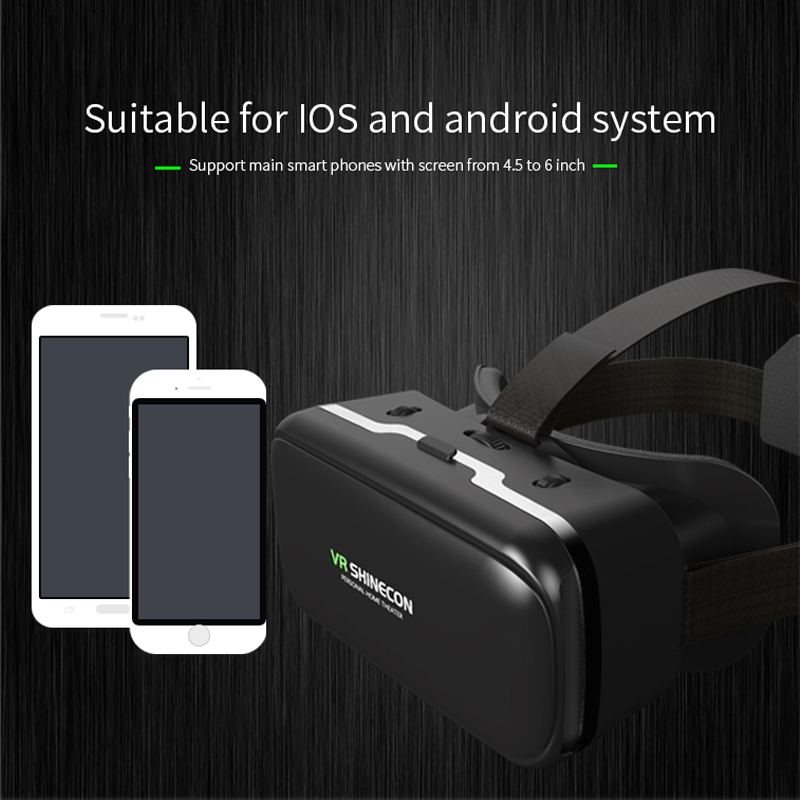 Virtual Reality Glasses 3D Glasses VR Box Movies for iPhone Galaxy S9 SmartPhones Cardboard Pro Version Virtual Reality Black