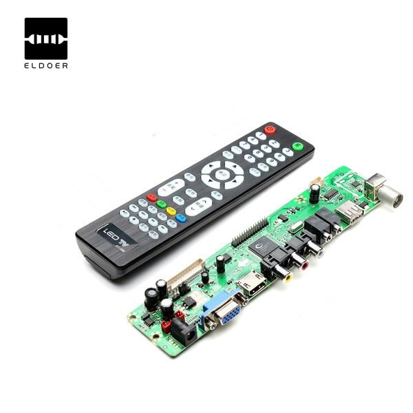 1PC 12 V V56 Universal LCD TV Controller Driver Board PC VGA HDMI USB Interface remote