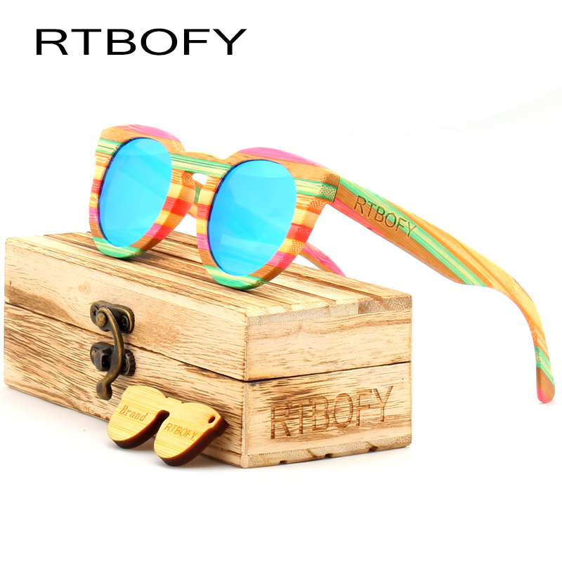 6434e8b947 RTBOFY 2017 Wood Sunglasses Women Top Quality Polarized Cat Eye Sunglasses  Brand Designer Color Ray UV400 Sun Glasses Eyewear