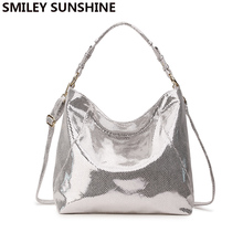 SMILEY SUNSHINE luxury brand women bag leather handbag big hobo crossbody