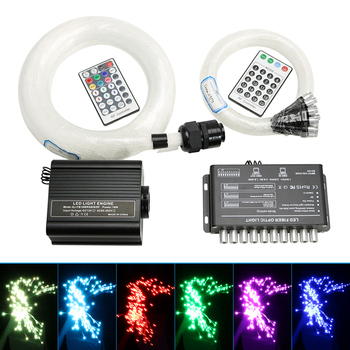 Kit de techo de estrella óptica LED RGBW de 16W, 430 filamentos de fibra óptica, efecto Meteor, luz de habitación para niños con control RF de 28 teclas