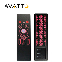 [AVATTO] Adjustable 7 Color Backlit Mini Keyboard with 2.4G Wireless Touchpad IR Learning Air Mouse for Smart tv,Android Box,PS3