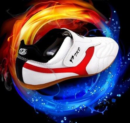 Для детей и взрослых Тхэквондо Обувь дышащие износостойкие кроссовки ушу кунг-фу карате обувь высокого качества Бесплатная доставка