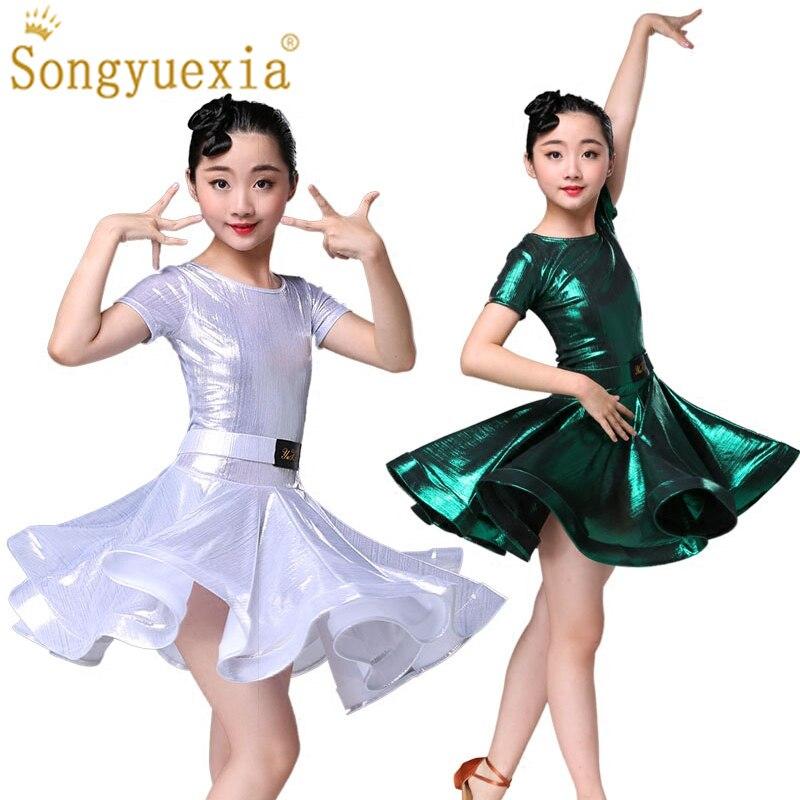 SONGYUEXIA robe de danse latine pour enfants pour filles jupe latine examen de pratique vêtements de danse robe de danse latine professionnelle