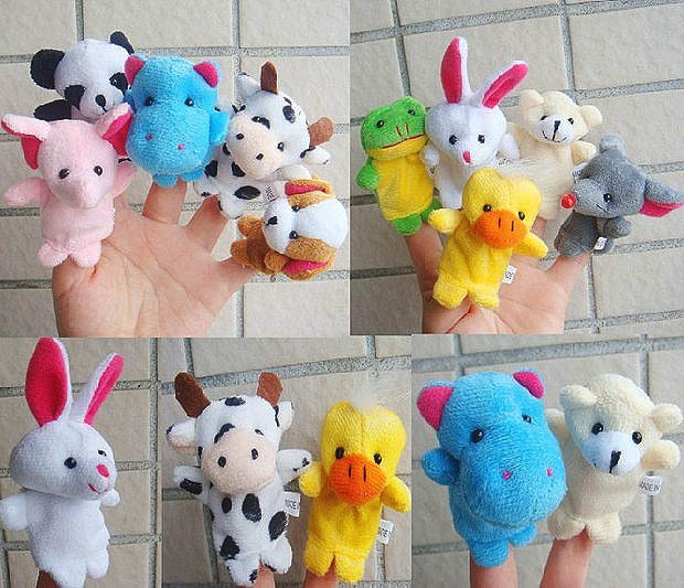 Free shipping 20pc/lot cartoon animal lovely mini plush finger puppet, finger doll, lovely mini plush puppet toys