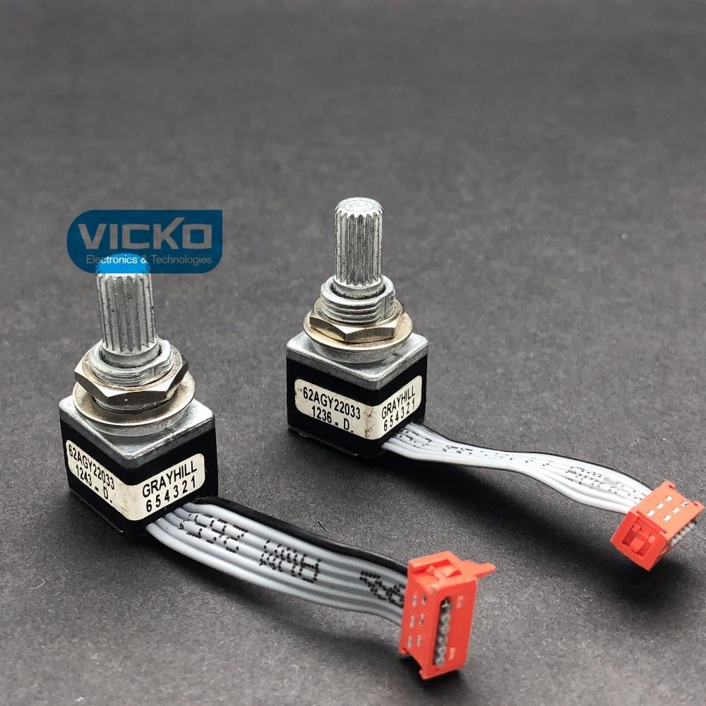 [VK]  GRAYHILL photoelectric encoder 62AGY22033 instrument encoder 16 position number[VK]  GRAYHILL photoelectric encoder 62AGY22033 instrument encoder 16 position number