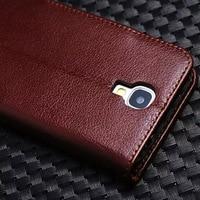 Bolsa da Carteira de negócios de Couro Real Caso Fundas Coque Para Samsung Galaxy S4 S5 Nota 2 II Nota 3 Note3 Aleta casos