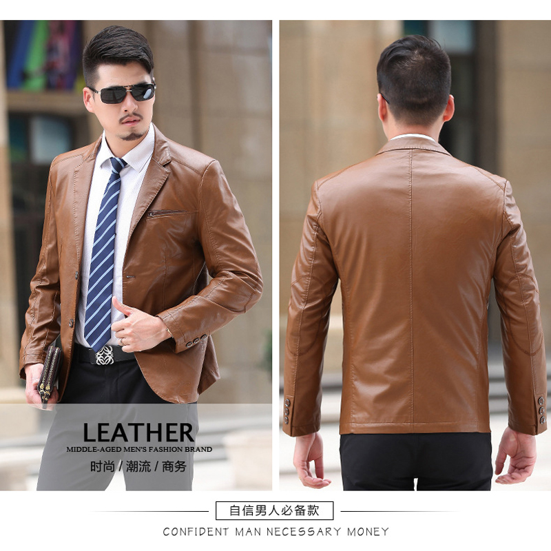 How to wear men's leather jacket