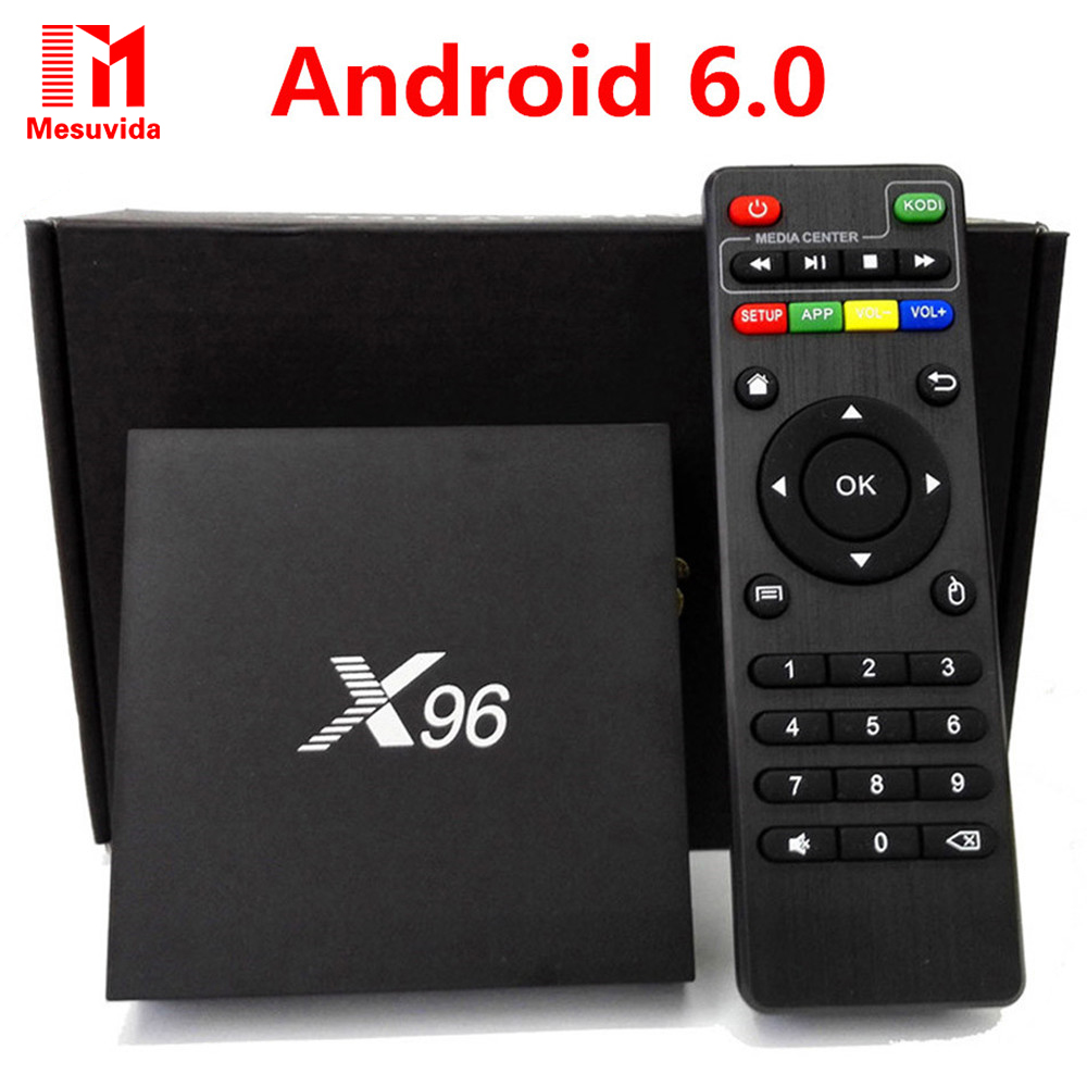 Mesuvida X96 Android 6.0 TV Box 1G/8G 2G/16G Amlogic S905X Quad Core KDi 16.1 Co