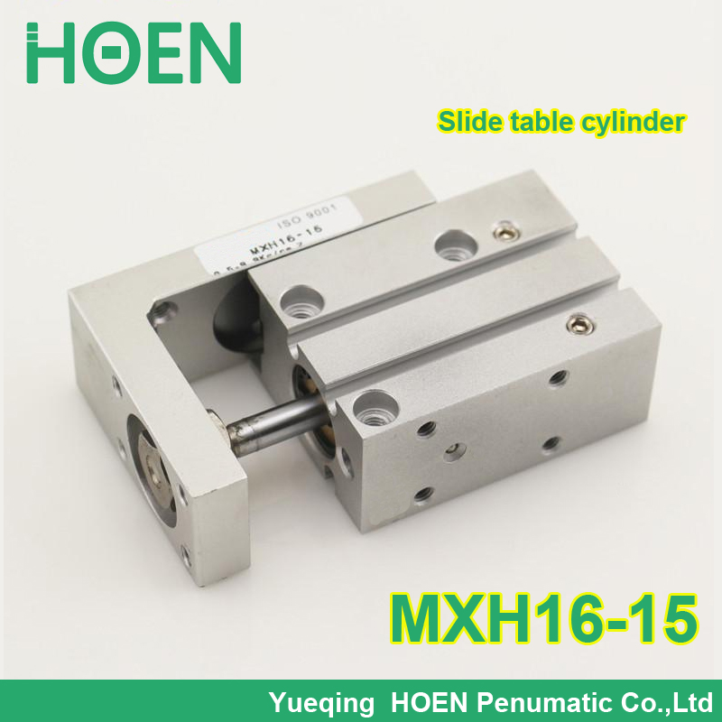 High quality MXH series MXH16-15 Double Acting Air Slide Table SMC type compact sliding table air cylinder MXH16*15 smc type mxh16 5 pneumatic slider linear guide slide cylinder mxh16 5