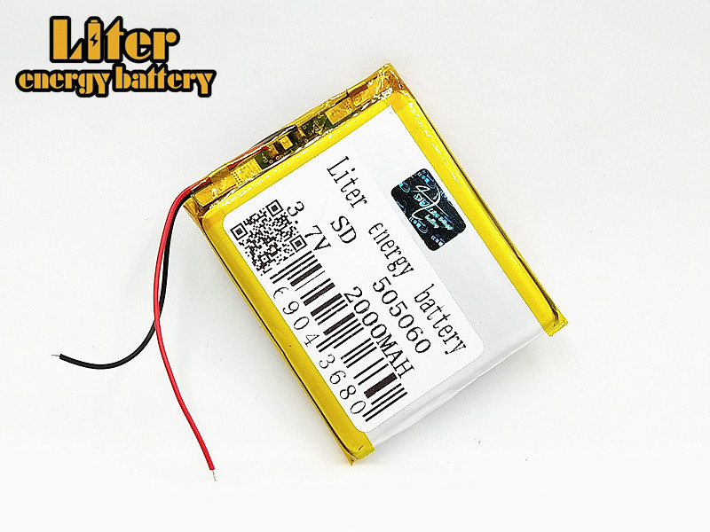 505060 <font><b>3.7V</b></font> <font><b>2000mAh</b></font> li polymer lithium <font><b>lipo</b></font> rechargeable <font><b>battery</b></font> for MP3 GPS navigator DVD electric toys power bank Tablet PC image