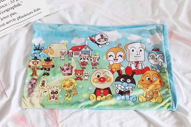 ¡Candice guo! Lindo juguete de felpa adorable dibujo animado anpanman baikinman hello familia dígitos tren suave funda de almohada cumpleaños regalo de Navidad