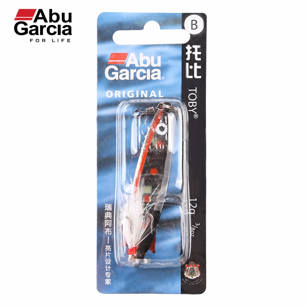 100% Original Abu Garcia Brand Toby Spoon Bait Artificial Bait Fishing Lure with Treble Hook 7g 10g 12g 18g 2017 new abu garcia 100