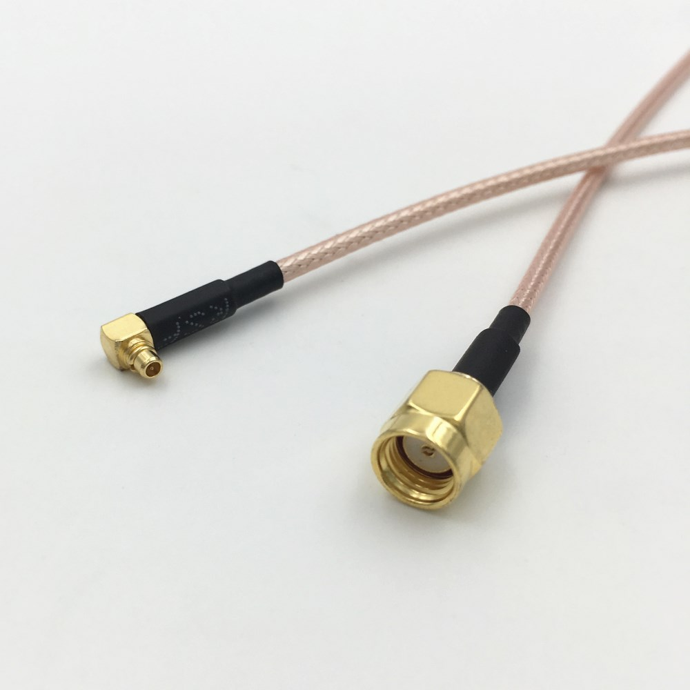 RP-SMA Bulkhead Female to MMCX Male 50Ω RG316 Coax Low Loss Jumper RF Cable