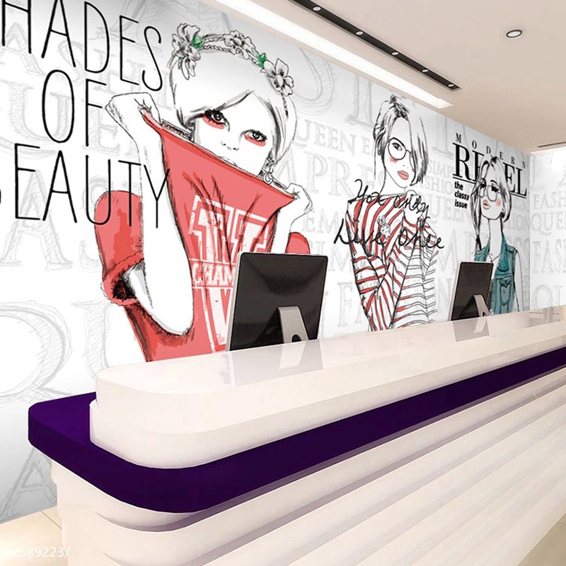 custom photo wallpaper 3d fashion shopping poster wall murals clothing store accessories shop. Black Bedroom Furniture Sets. Home Design Ideas