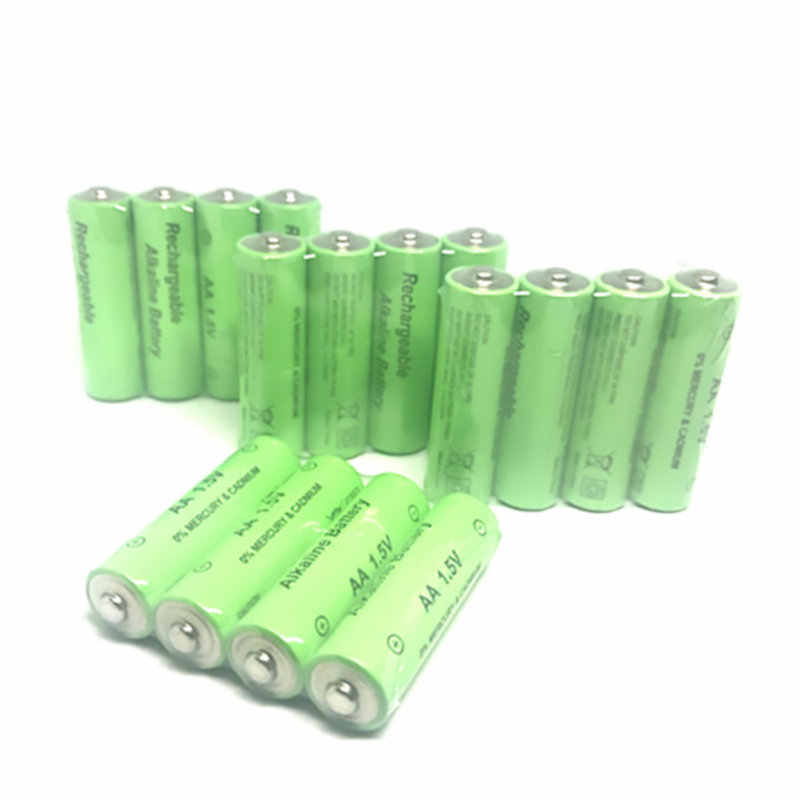 Cncool 4-20PCS 1.5V AA rechargeable battery AA cell 2000-3000mah for torch toys clock MP3 player replace batteries Free shipping