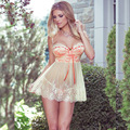 Europa y el comercio exterior de Estados Unidos de las mujeres del verano de la ropa interior exótica pijama blanco bra tipo arnés camisón al por mayor