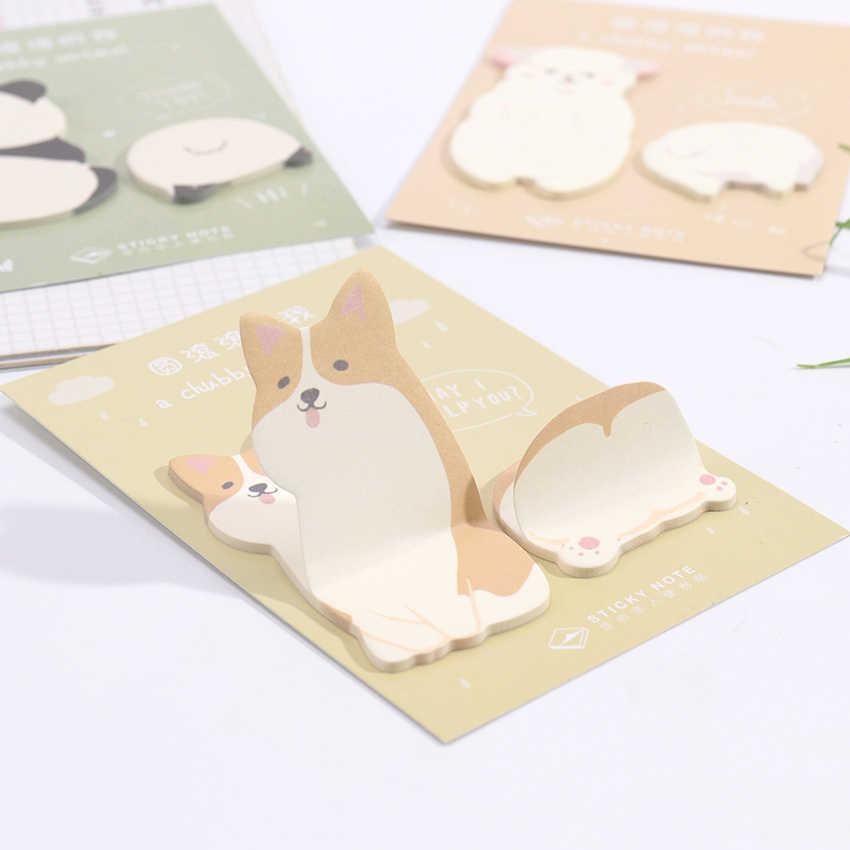 Сообщение заметки памятки-стикеры милые толстые маленькие животные бумага для заметок на клейкой основе блокнот канцелярские школьные принадлежности