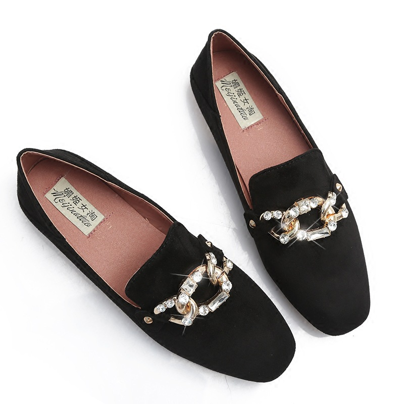Women Flats shoes Slip On Moccasins Lazy Loafers Ladies Footwear Suede Rhinestone Bow Spring Autumn casual female Leisure shoes taoffen ladies leisure casual flats shoes low heels lady loafers sexy spring women brand footwear shoes size 34 42 p16166