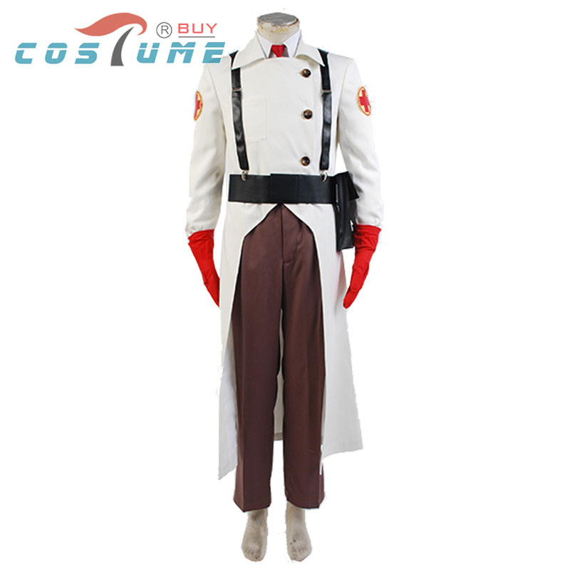 Team Fortress 2 Medic Uniform Cosplay Costume Men Anime Halloween COSTUMES Custom Made New Arrival