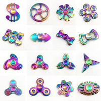 New Fidget Spinner Tri-Spinner Colorful Five Beeds Star Bat Heart Triangle Wheel Fly Dragon Metal Hand Spinner Anti Stress Toys