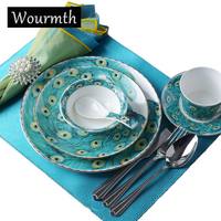 Wourmth European Ceramic Dinnerware Western Steak Plate Dinner Plate Soup Platecoffee Cup And Saucer 1pcs