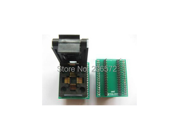 TQFP32 to DIP32 IC test block/adapter/test bench/Burn-in