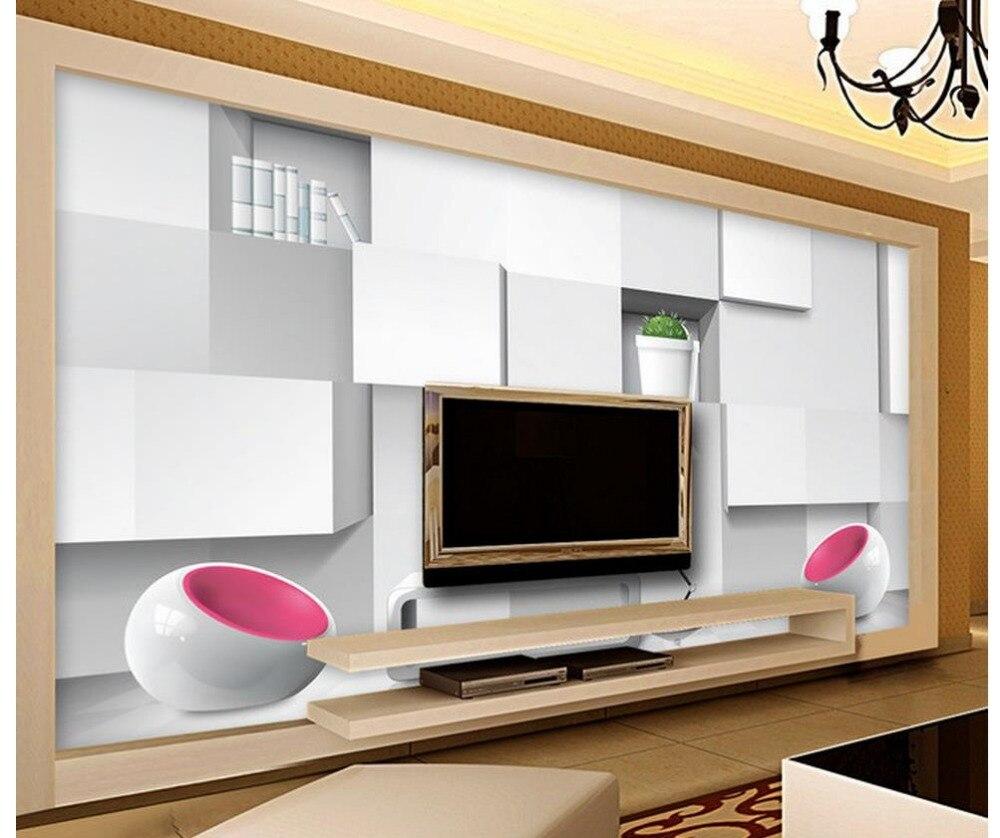 Modern TV backdrop stereoscopic 3D photo wall murals wallpaper Home ...