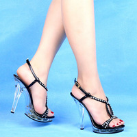 12 Cm Shoes High With Diamond Sandals Wedding Dress Art Pictures Shoes Stage Designer Women S