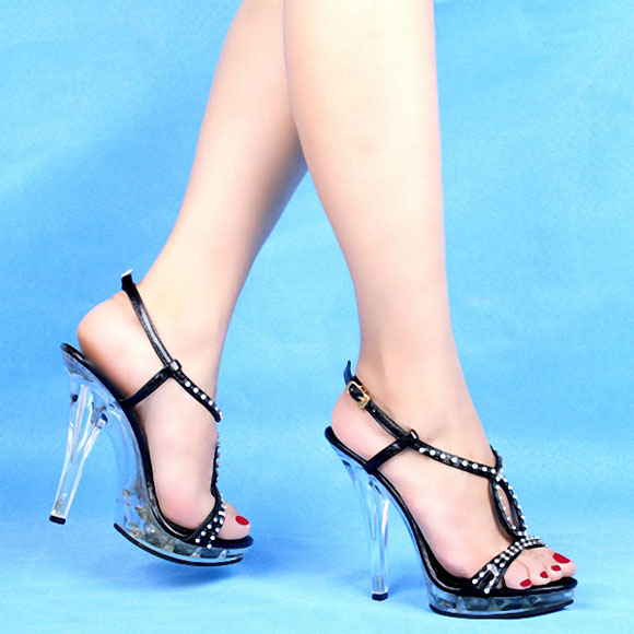 12 Cm Shoes High With Diamond Sandals Wedding Dress Art Pictures Stage Designer Womens In From On Aliexpress