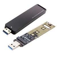 Nvme To Usb Adapter, 10 Gbps Usb3.1 Gen 2 M.2 Pcie Ssd To Type A Card (No Cable Needed), Usb To M2 Solid State Drive (Key M),