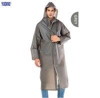 Yuding Dài Áo Mưa EVA Người Đàn Ông Dày Áo Mưa Chống Thấm Đi Bộ Đường Dài Tour Trùm Đầu Mưa Coat