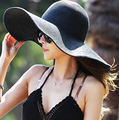 Мода 2015 Шляпа Солнца Женские Летние Соломы Складная Соломенные Шляпы Женщин Пляж Головные Уборы 6 Цвета