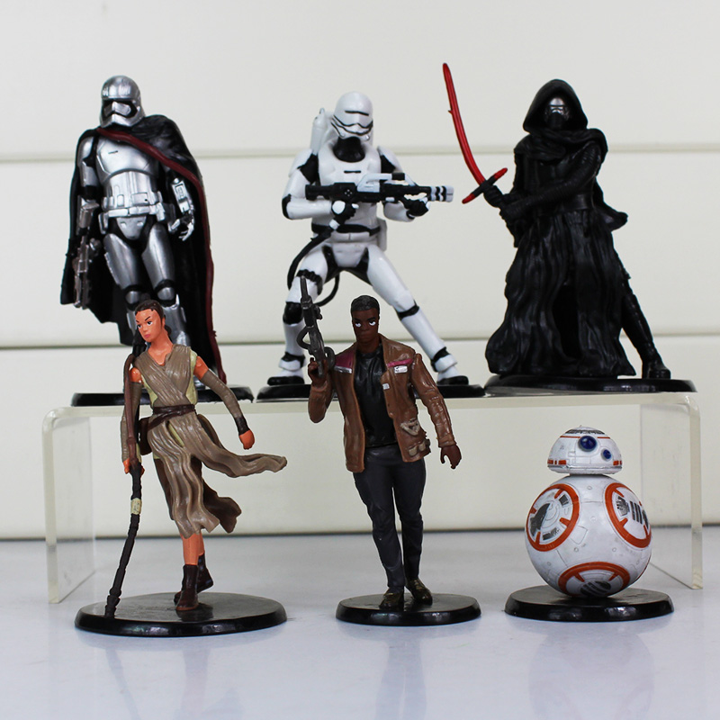 6Pcs/<font><b>Set</b></font> <font><b>Star</b></font> <font><b>Wars</b></font> PVC Action <font><b>Figures</b></font> Toy <font><b>Darth</b></font> <font><b>Maul</b></font> Stormtrooper Luke Skywalker Vader collectibles Model Dolls 5.5~11cm