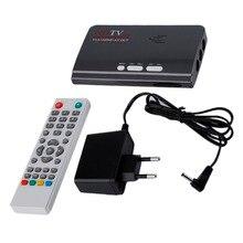 UE HDMI HD 1080 P Con VGA/Sin VGA Versión DVB-T2 TV caja de Sintonizador de Receptor de Control Remoto AV CVBS Compatible Con la CRT y la LCD