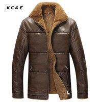 Winter Leather Jacket 2017 Men S Casual Fashion Jackets Black And Brown Zipper Faux Fur Men