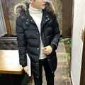 Hot sale 2016 New Cotton-Padded Jacket Coat Thicker Coat Slim And Long Sections Korean Hooded Winter Coat Male Tide Of England