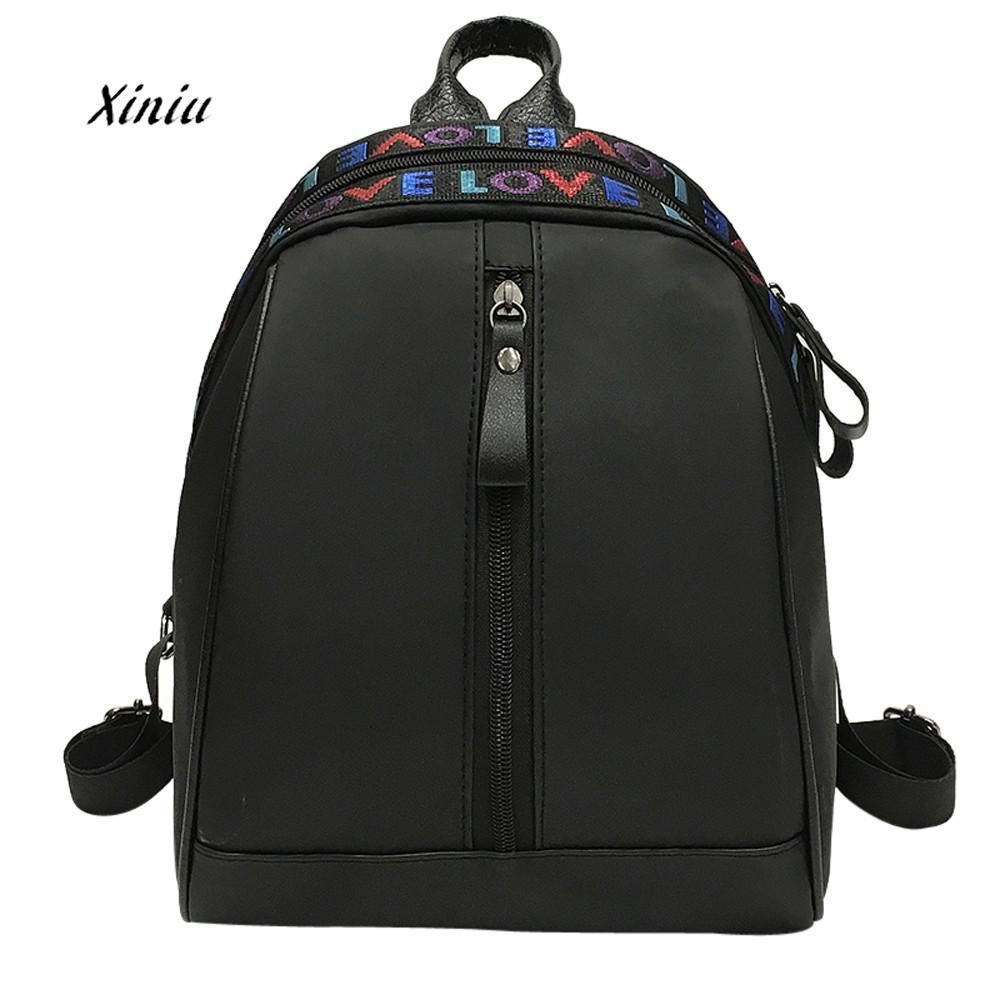 Womens Leather Backpacks Fashion Letter Print Shoulder Bags Shopping Backpack Travel Rucksack High Quality Backpack For Women