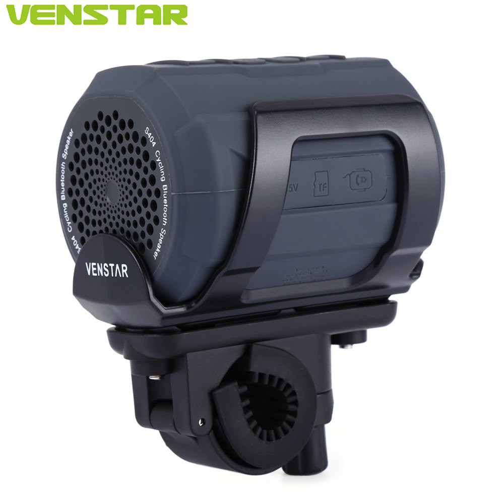 VENSTAR S404 Cycling Sports Portable Bluetooth Speaker FM Radio Waterproof Mini Column with Bicycle Bell iFree Remote Bike Mount venstar s404 portable bluetooth speaker column subwoofer fm radio loudspeaker for motorcycle bike bicycle outdoor cycling sports